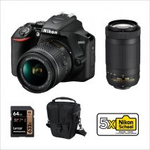 Nikon D3500 DSLR Camera With 18-55mm Lens And AF-P 70-300mm Lenses And Accessories Kit
