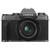 Fujifilm X-T200 15-45mm Kit Bundle Offer With 128GB Memory Card,Cleaning Kit,Tripod And Case(Dark Silver)