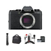 Fujifilm X-T100 Mirrorless Camera Body Only With Accessories Kit (Black)