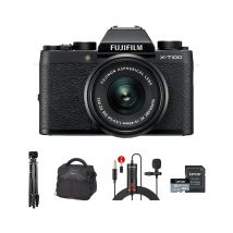 Fujifilm X-T100 Mirrorless Camera With 15-45mm Lens And Accessories Kit (Black)