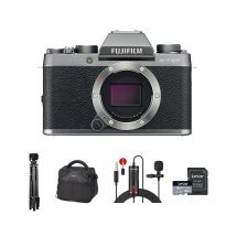 Fujifilm X-T100 Mirrorless Camera Body Only With Accessories Kit (Dark Silver)
