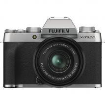 Fujifilm X-T200 15-45mm Kit Bundle Offer With 128GB Memory Card,Cleaning Kit,Tripod And Case(Silver)