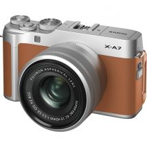Fujifilm X-A7 15-45mm Mirrorless Camera (Brown) Kit Bundle Offer With 128GB Card,Tripod,Cleaning Kit And Case