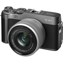 Fujifilm X-A7 15-45mm Mirrorless Camera (Dark Silver) Kit Bundle Offer With 128GB Card,Tripod,Cleaning Kit And Case