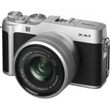 Fujifilm X-A7 15-45mm Mirrorless Camera (Silver) Kit Bundle Offer With 128GB Card,Tripod,Cleaning Kit And Case