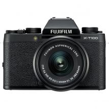 Fujifilm X-T100 15-45mm Kit Bundle With 128GB Memory Card,Tripod,Cleaning Kit And Case (Black)