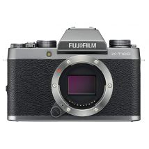 Fujifilm X-T100 Body Only Bundle With 128GB Memory Card,Tripod,Cleaning Kit And Case(Dark Silver)