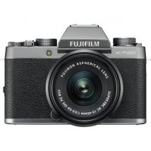Fujifilm X-T100 15-45mm Kit Bundle With 128GB Memory Card,Tripod,Cleaning Kit And Case(Dark Silver)