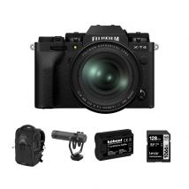 Fujifilm X-T4 Mirrorless Camera Black Body With XF 16-80mm F/4 Lens And Accessories Kit