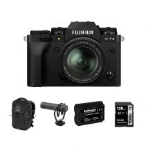 Fujifilm X-T4 Mirrorless Camera  with 18-55mm F/2.8-4 Lens And Accessories Kit (Black)