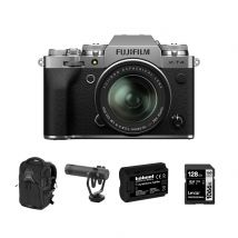 Fujifilm X-T4 Mirrorless Camera with 18-55mm F/2.8-4 Lens And Accessories Kit (Silver)
