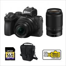 Nikon Z50 16-50mm kit With 50-250mm Bundle Pack With 128GB Memory Card,Tripod And Cleaning Kit