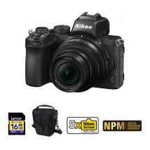 Nikon Z50 Camera With Vloggers Kit (Microphone + Tripod + Camera Rig) And FT-Z Adapter Bundle With 128GB Memory Card,Tripod And Camera Cleaning Kit