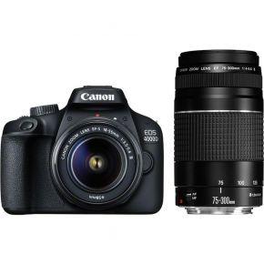 Canon EOS 4000D 18-55 DC + 75-300 DC Lens Kit
