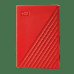 WD 2TB My Passport USB 3.2 Gen 1 External Hard Drive-Red