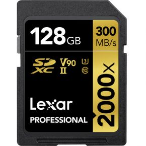 Lexar LSD128CRBEU2000R PROFESSIONAL SD (2000X) 128GB SDCARD