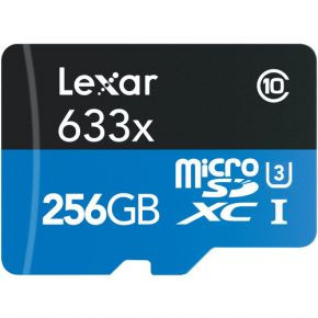 Lexar Professional Micro SD 256GB 633x Card with Adapter