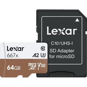 Lexar Professioal Micro SD 64GB 667x Card