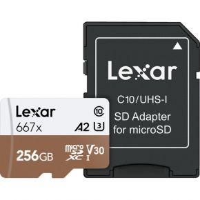 Lexar Professioal Micro SD 256GB 667x Card