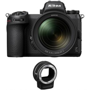 Nikon Z 7II Mirrorless Digital Camera with 24-70mm f/4 Lens and FTZ Adapter