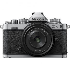 Nikon Z fc Mirrorless Digital Camera with 28mm Lens (Silver)