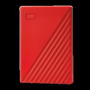 WD 4TB My Passport  Slim USB 3.0 Hard Drive - Red