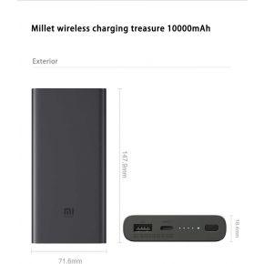 Xiaomi Mi 10000mAh Qi Wireless Charger Power Bank  - Black