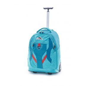 HIGH SIERRA AGGRO Wheeled Backpack Sea/Tropic Teal/Redline