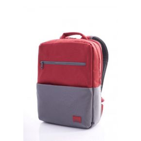 BRIXTON Laptop Backpack - Red/Grey