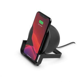 BELKIN Boost Charge 10W Wireless Charging Stand + Bluetooth Speaker - Black (AUF001MYBK)