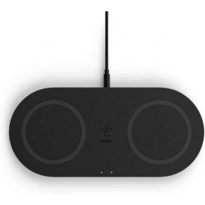 Belkin - With PSU - 2x 10W Dual Wireless Charging Pad - Black