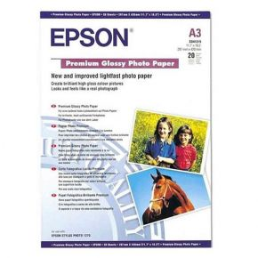 Epson C13S041315 A3 Premium Glossy P 20 sheet/297mmx 420mm or 19.5 inchx16.5 inch/255gsm/Premium Glossy Photo Paper