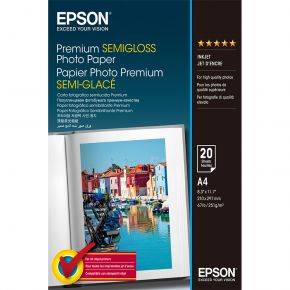 Epson premium A4 semi-gloss photo paper