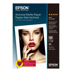 Epson C13S041342 A4 Archival Matte P 50Sheet//189gsm/Archival Matte Photo Paper A4Paper