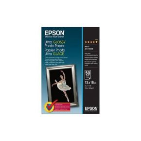 "Epson C13S041944 13x18cm(5"" x7"" ) Ultra Gloss/50 Sheet/13x18/300gsm/Ultra Glossy Photo Paper"