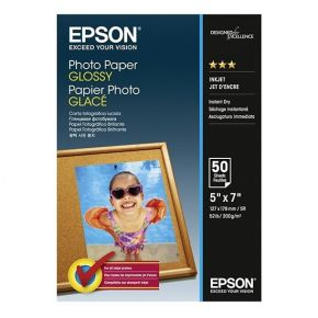"Epson C13S042545 13 x 18 cm (5""x7"") 200 g/m² 50 Sheets Glossy Media/Photo Paper Paper"