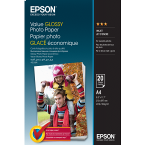 Epson 20-sheet A4 Value Glossy Photo Paper