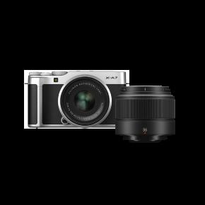 Fujifilm X-A7 15-45mm Mirrorless Camera (Silver) Kit Bundle Offer with Fujinon XC35MMF2