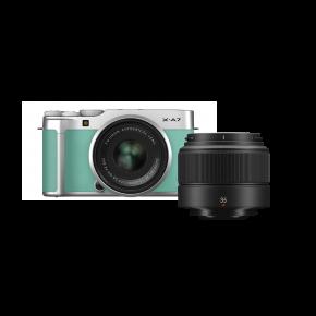 Fujifilm X-A7 15-45mm Mirrorless Camera (Mint Green) Kit Bundle Offer With Fujinon XC35MMF2