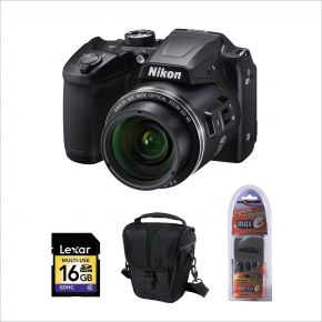 Nikon Coolpix B500 BK Camera with 16GB card and case