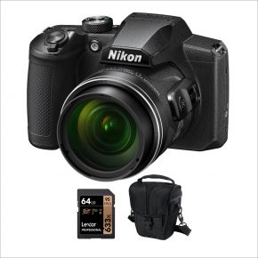 Nikon Coolpix B600 Camera with 64GB card and case