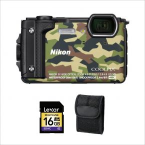 Nikon Coolpix W300 GR CoolPix Underwater camera with 16GB Card and Case