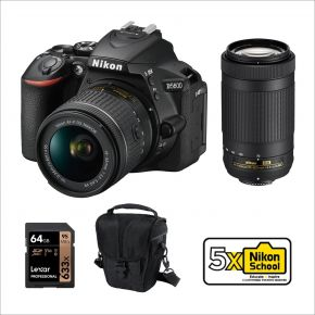 Nikon D5600 DSLR with 18-55mm + 70-300mm Bundle Offer With Accessories Kit