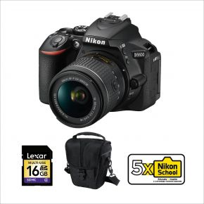 Nikon D5600 DSLR with 18-55mm Bundle Kit With 128GB Memory Card,Tripod And Cleaning Kit