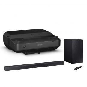EPSON EH-LS100 Laser 4000 lumens/2,500,000:1 Contrast Projector Bundle With Samsung Soundbar