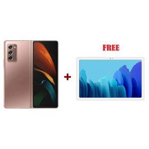 SAMSUNG Galaxy Z Fold2 5G- Bronze  + Galaxy Tab A7- Silver