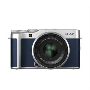Fujifilm X-A7 15-45mm Mirrorless Camera (Navy Blue) Kit Bundle Offer With 128GB Card,Tripod,Cleaning Kit And Case