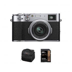 Fujifilm X100V Digital Camera With Accessories Kit (Silver)