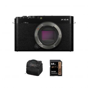 Fujifilm X-E4 Digital Mirrorless Camera Body with Accessories Kit (Black)