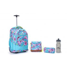 HIGH SIERRA HS CHASER SET (4 PCS) BIRDS&BLOSSOMS/TROPIC TEAL Backpack